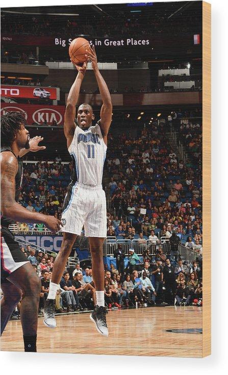 Nba Pro Basketball Wood Print featuring the photograph Bismack Biyombo by Fernando Medina