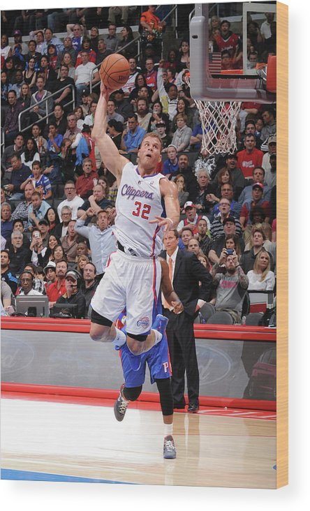 Nba Pro Basketball Wood Print featuring the photograph Blake Griffin by Andrew D. Bernstein