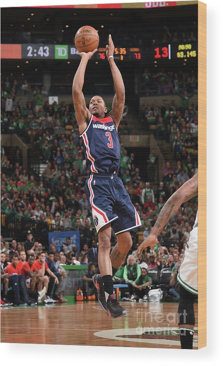 Playoffs Wood Print featuring the photograph Bradley Beal by Brian Babineau