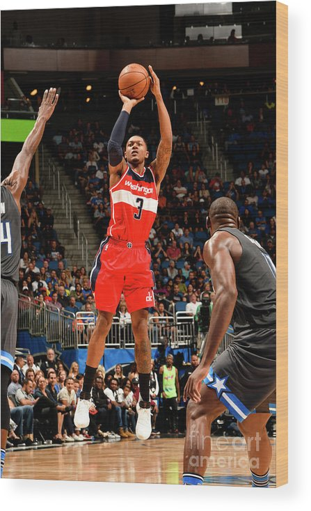 Nba Pro Basketball Wood Print featuring the photograph Bradley Beal by Fernando Medina