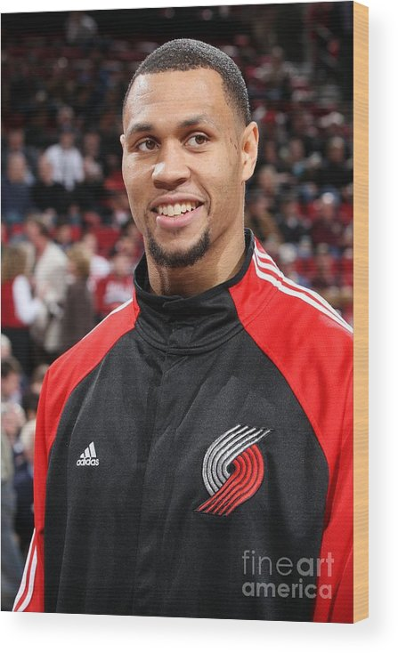 Nba Pro Basketball Wood Print featuring the photograph Brandon Roy by Sam Forencich