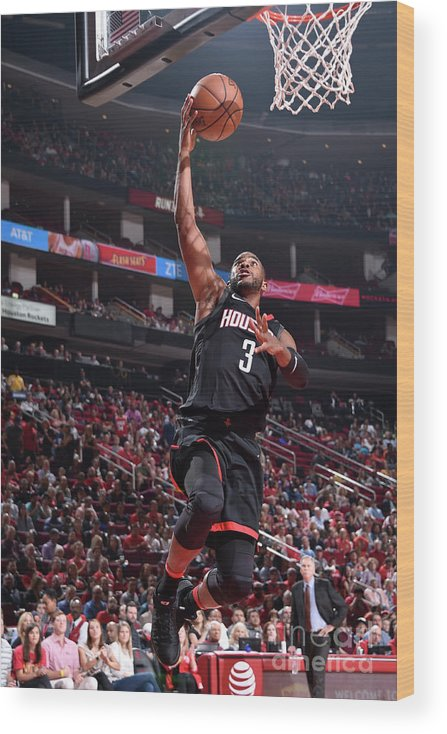 Nba Pro Basketball Wood Print featuring the photograph Chris Paul by Bill Baptist