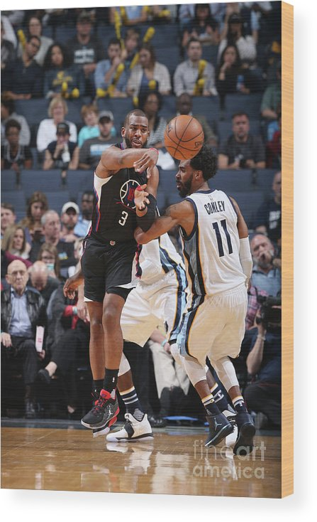 Nba Pro Basketball Wood Print featuring the photograph Chris Paul by Joe Murphy