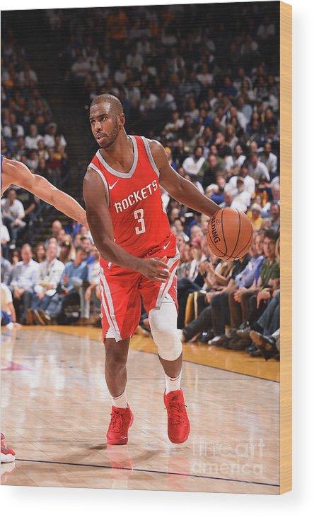 Nba Pro Basketball Wood Print featuring the photograph Chris Paul by Noah Graham