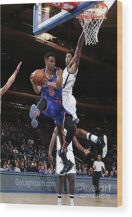 Nba Pro Basketball Wood Print featuring the photograph Courtney Lee by Nathaniel S. Butler
