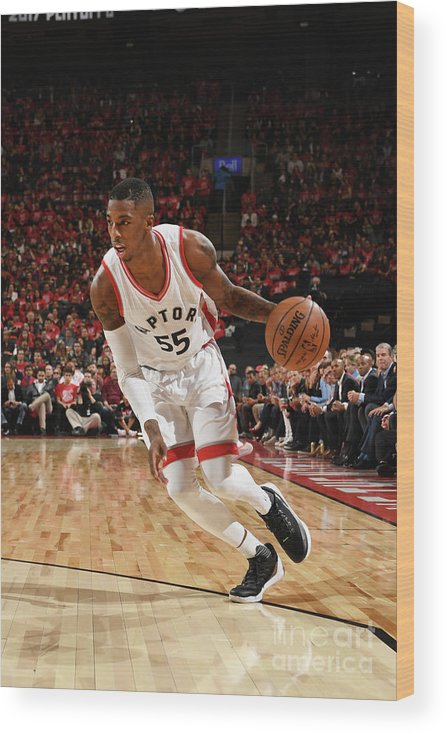 Playoffs Wood Print featuring the photograph Delon Wright by Ron Turenne