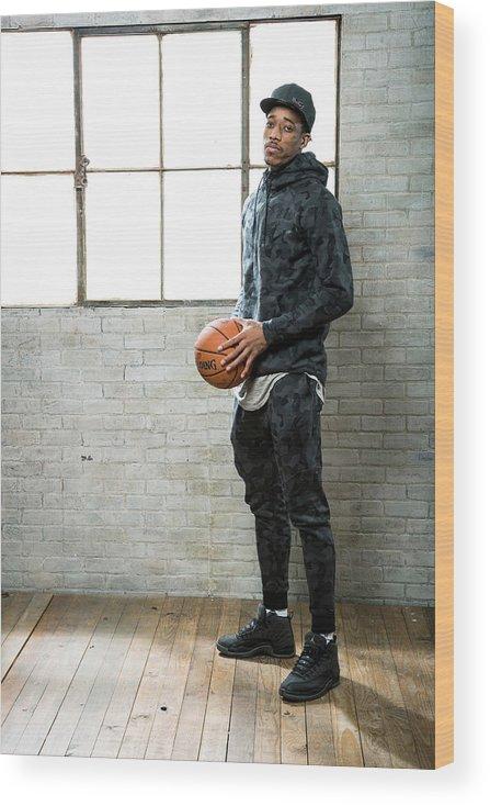 Nba Pro Basketball Wood Print featuring the photograph Demar Derozan by Nathaniel S. Butler
