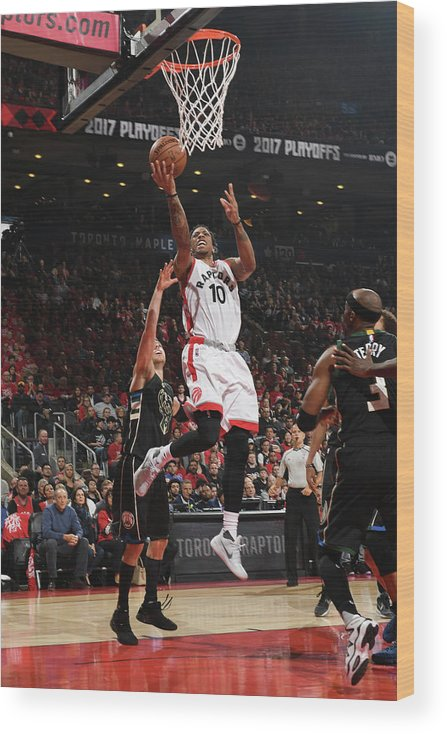 Playoffs Wood Print featuring the photograph Demar Derozan by Ron Turenne