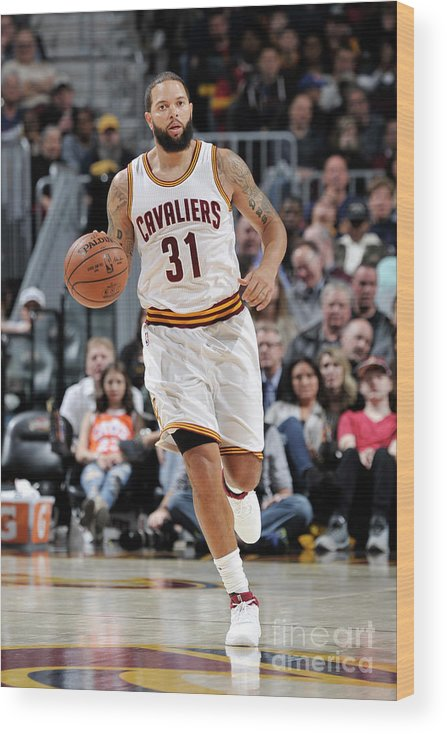 Nba Pro Basketball Wood Print featuring the photograph Deron Williams by David Liam Kyle