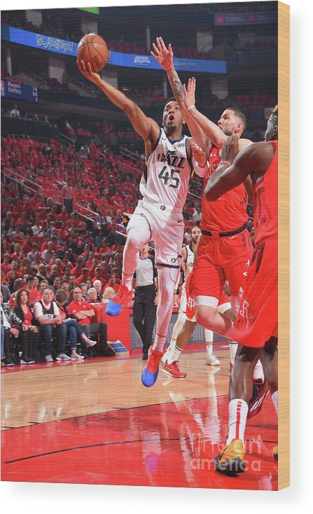 Playoffs Wood Print featuring the photograph Donovan Mitchell by Bill Baptist