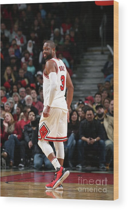Nba Pro Basketball Wood Print featuring the photograph Dwyane Wade by Gary Dineen