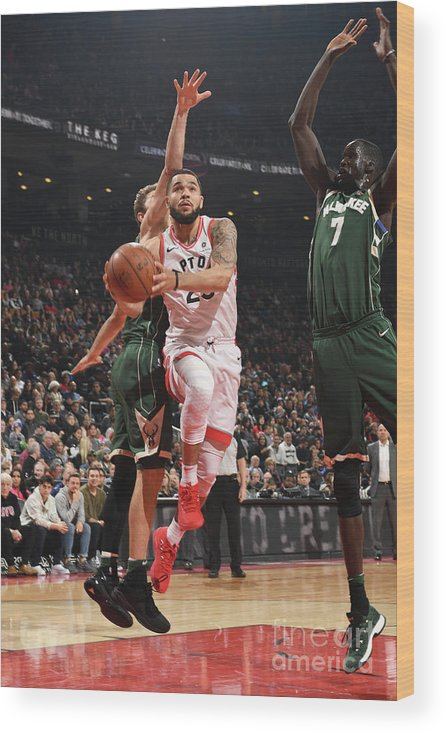 Nba Pro Basketball Wood Print featuring the photograph Fred Vanvleet by Ron Turenne