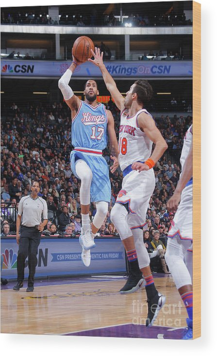 Nba Pro Basketball Wood Print featuring the photograph Garrett Temple by Rocky Widner