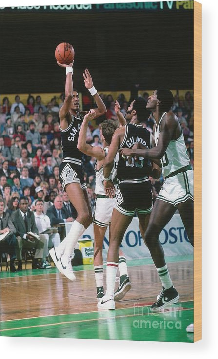 1980-1989 Wood Print featuring the photograph George Gervin by Dick Raphael