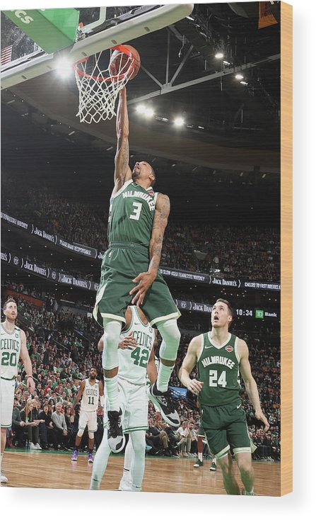 Playoffs Wood Print featuring the photograph George Hill by Nathaniel S. Butler