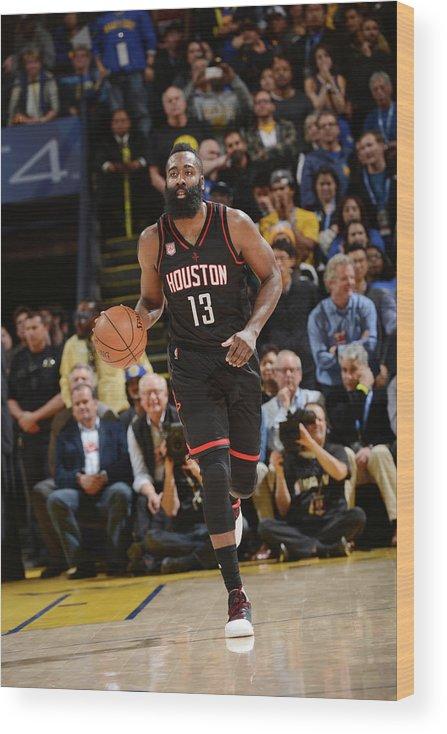 Nba Pro Basketball Wood Print featuring the photograph James Harden by Noah Graham