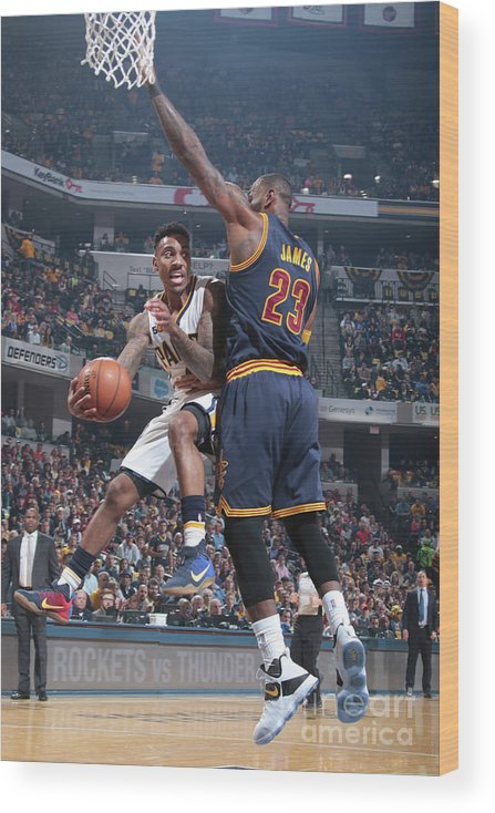 Playoffs Wood Print featuring the photograph Jeff Teague by Ron Hoskins