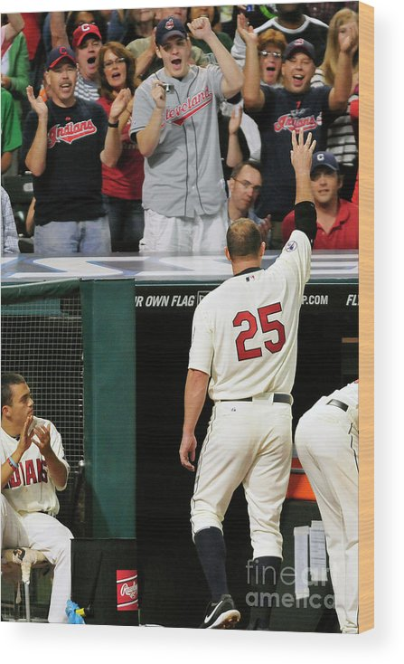 Crowd Wood Print featuring the photograph Jim Thome by Jason Miller