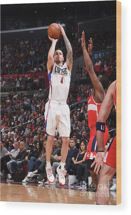 Nba Pro Basketball Wood Print featuring the photograph J.j. Redick by Andrew D. Bernstein