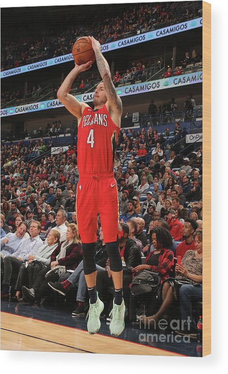 Smoothie King Center Wood Print featuring the photograph J.j. Redick by Layne Murdoch Jr.