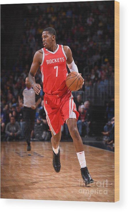 Nba Pro Basketball Wood Print featuring the photograph Joe Johnson by Garrett Ellwood