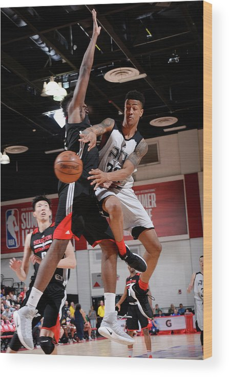 Nba Pro Basketball Wood Print featuring the photograph John Collins by David Dow
