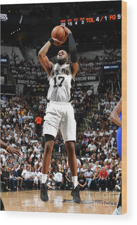 Playoffs Wood Print featuring the photograph Jonathon Simmons by Jesse D. Garrabrant