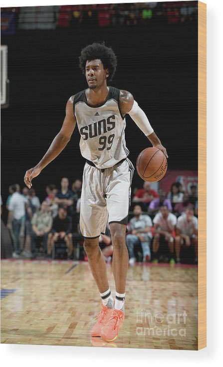 Nba Pro Basketball Wood Print featuring the photograph Josh Jackson by Garrett Ellwood
