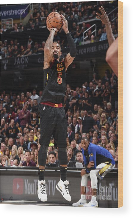 Playoffs Wood Print featuring the photograph J.r. Smith by Andrew D. Bernstein