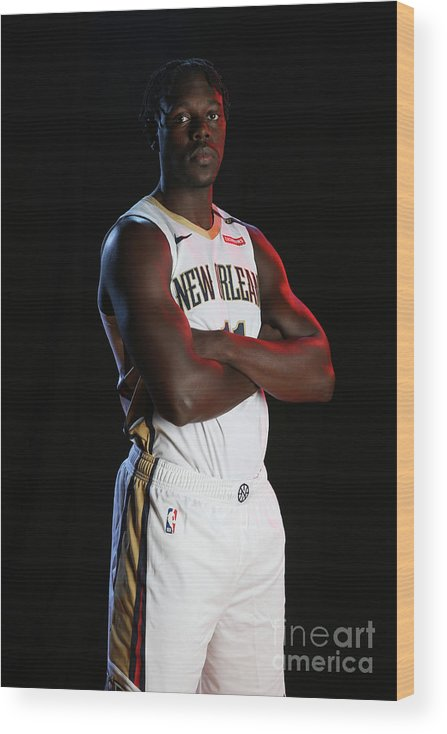 Media Day Wood Print featuring the photograph Jrue Holiday by Layne Murdoch Jr.