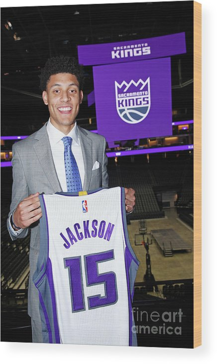 Nba Pro Basketball Wood Print featuring the photograph Justin Jackson by Rocky Widner