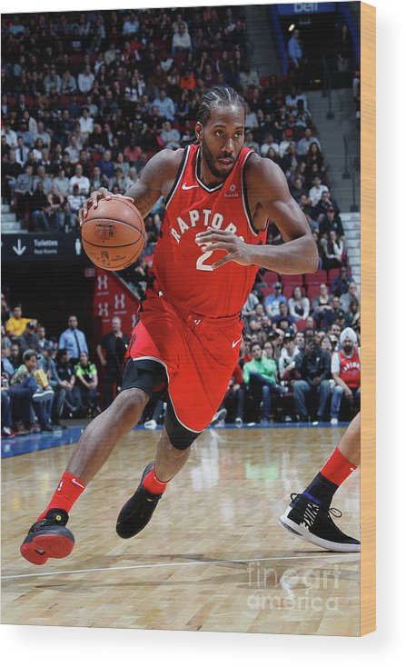 Nba Pro Basketball Wood Print featuring the photograph Kawhi Leonard by Mark Blinch