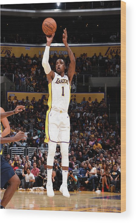 Nba Pro Basketball Wood Print featuring the photograph Kentavious Caldwell-pope by Andrew D. Bernstein