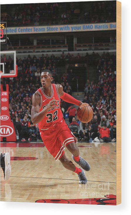 Chicago Bulls Wood Print featuring the photograph Kris Dunn by Gary Dineen