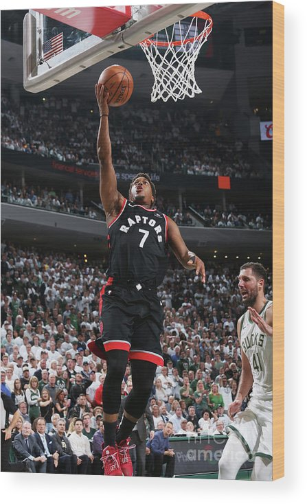 Playoffs Wood Print featuring the photograph Kyle Lowry by Gary Dineen