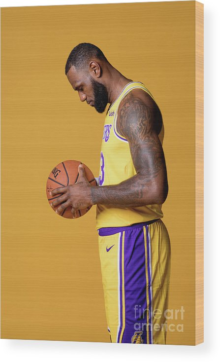 Media Day Wood Print featuring the photograph Lebron James by Atiba Jefferson
