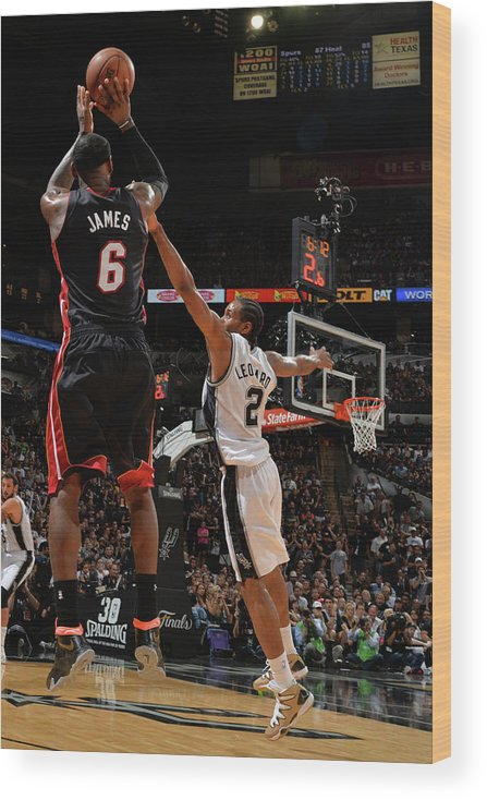 Playoffs Wood Print featuring the photograph Lebron James by Jesse D. Garrabrant