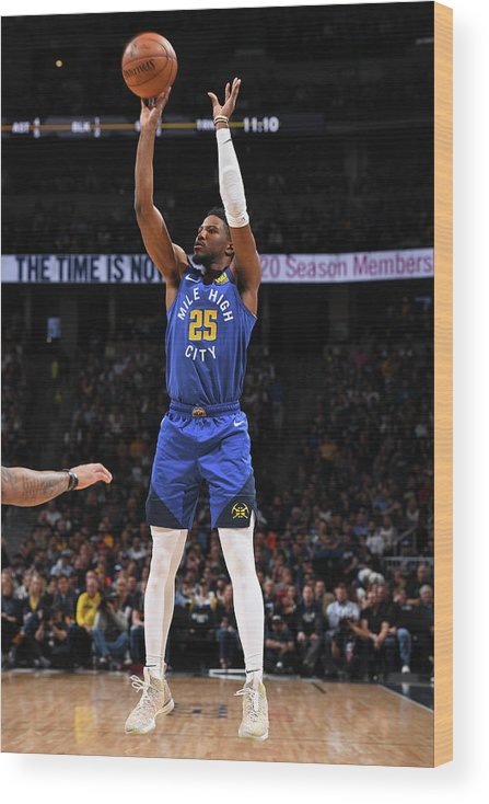 Playoffs Wood Print featuring the photograph Malik Beasley by Garrett Ellwood