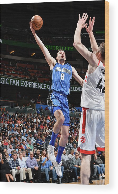 Nba Pro Basketball Wood Print featuring the photograph Mario Hezonja by Fernando Medina