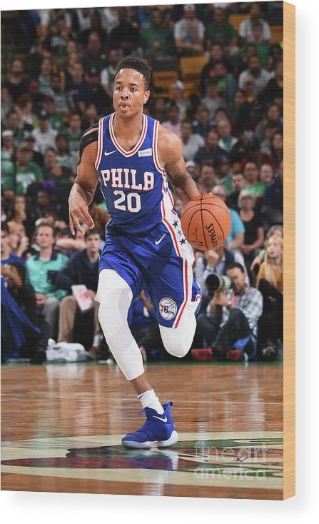 Nba Pro Basketball Wood Print featuring the photograph Markelle Fultz by Brian Babineau