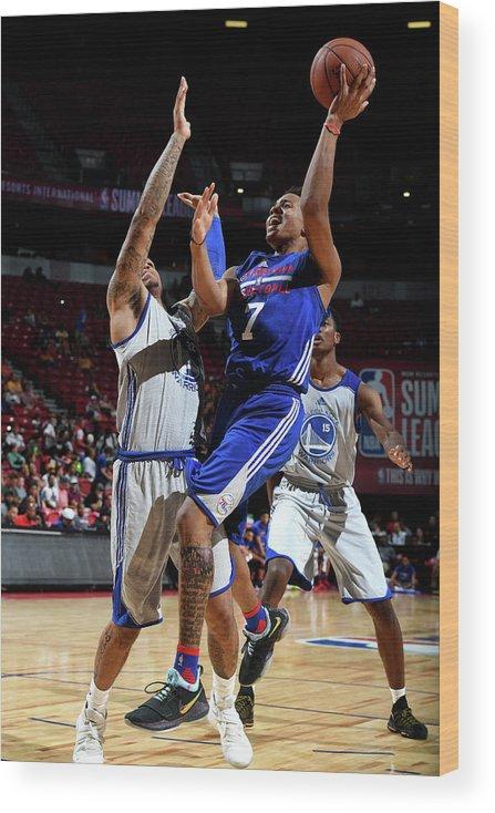 Nba Pro Basketball Wood Print featuring the photograph Markelle Fultz by Garrett Ellwood