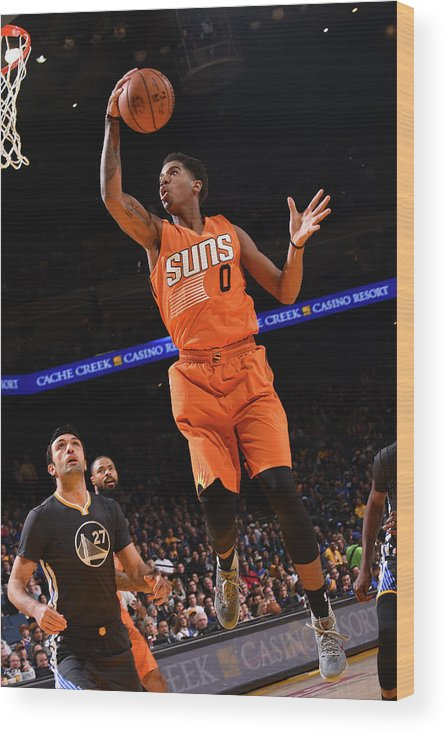 Nba Pro Basketball Wood Print featuring the photograph Marquese Chriss by Noah Graham