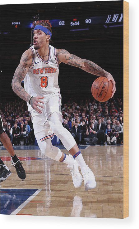 Michael Beasley Wood Print featuring the photograph Michael Beasley by Nathaniel S. Butler