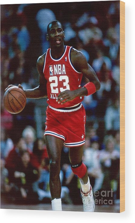 1980-1989 Wood Print featuring the photograph Michael Jordan by Andrew D. Bernstein