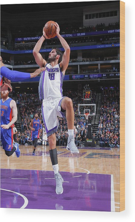 Nba Pro Basketball Wood Print featuring the photograph Omri Casspi by Rocky Widner