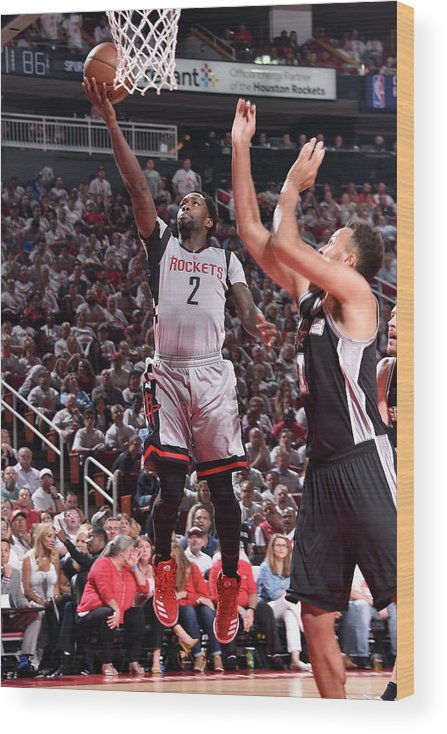 Playoffs Wood Print featuring the photograph Patrick Beverley by Bill Baptist