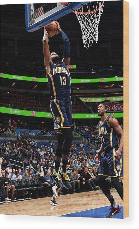 Nba Pro Basketball Wood Print featuring the photograph Paul George by Fernando Medina