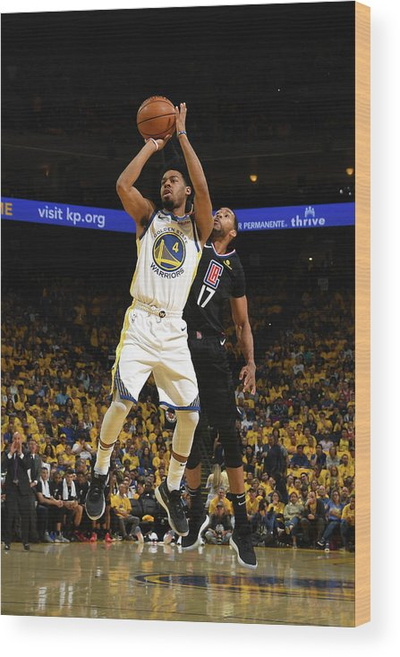 Playoffs Wood Print featuring the photograph Quinn Cook by Noah Graham