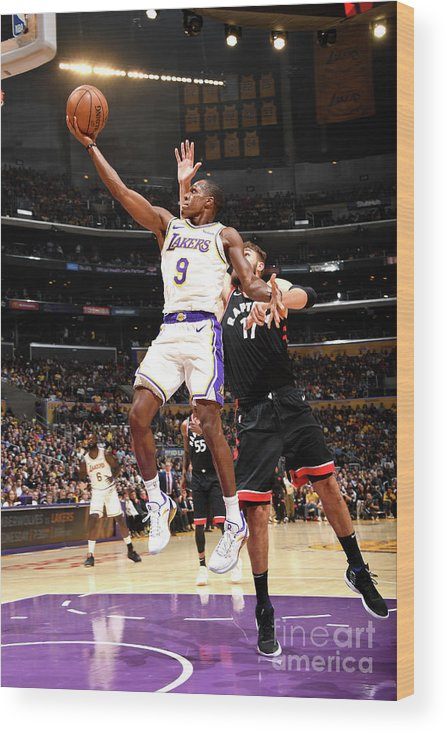 Nba Pro Basketball Wood Print featuring the photograph Rajon Rondo by Andrew D. Bernstein