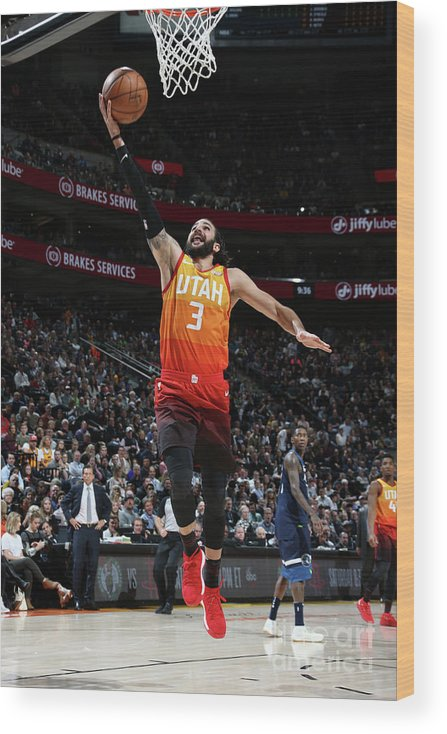 Nba Pro Basketball Wood Print featuring the photograph Ricky Rubio by Melissa Majchrzak